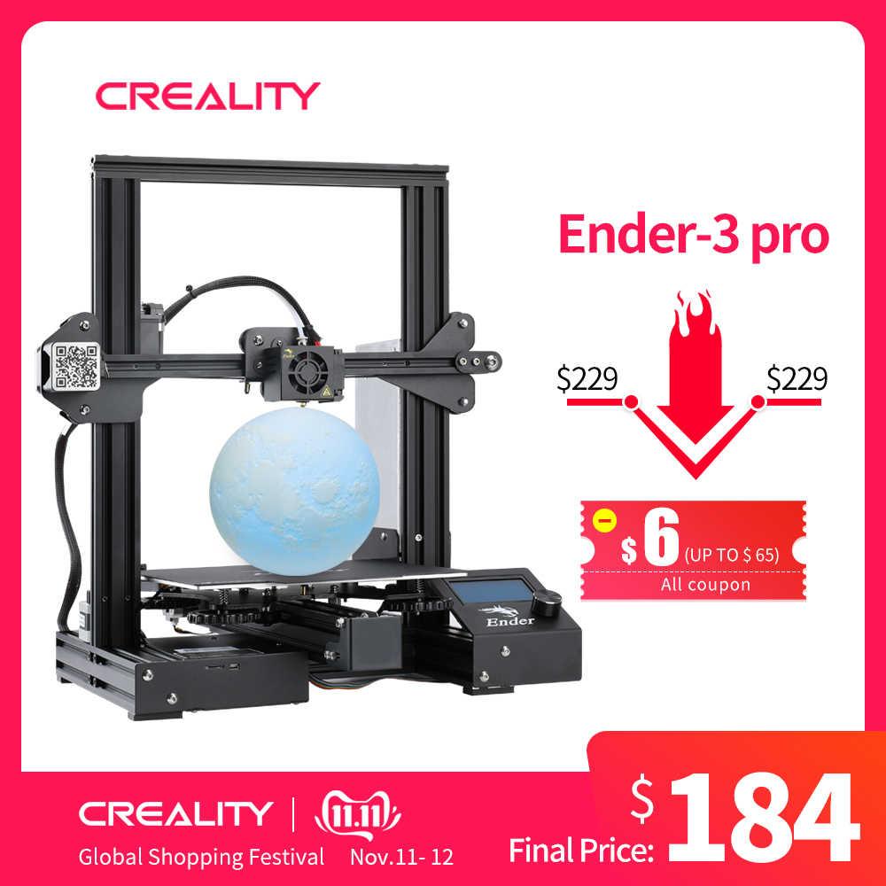 CREALITY طابعة ثلاثية الأبعاد ترقية الرؤية Ender-3 طابعة برو لتقوم بها بنفسك عدة Ender-3 برو مع MW امدادات الطاقة ثلاثية الأبعاد Drucker Impresora مجموعة الطابعة