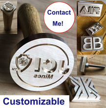 Custom Logo Alphabet Letter Leather Wood Metal Jewelry Brass Stamping Embossing Punch Tools Hot Foil Stamps Leather Die
