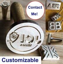 Individuelles Logo Alphabet Brief Leder Holz Metall Schmuck Messing Stanzen Präge Punch Werkzeuge Heißer Folie Briefmarken Leder Sterben