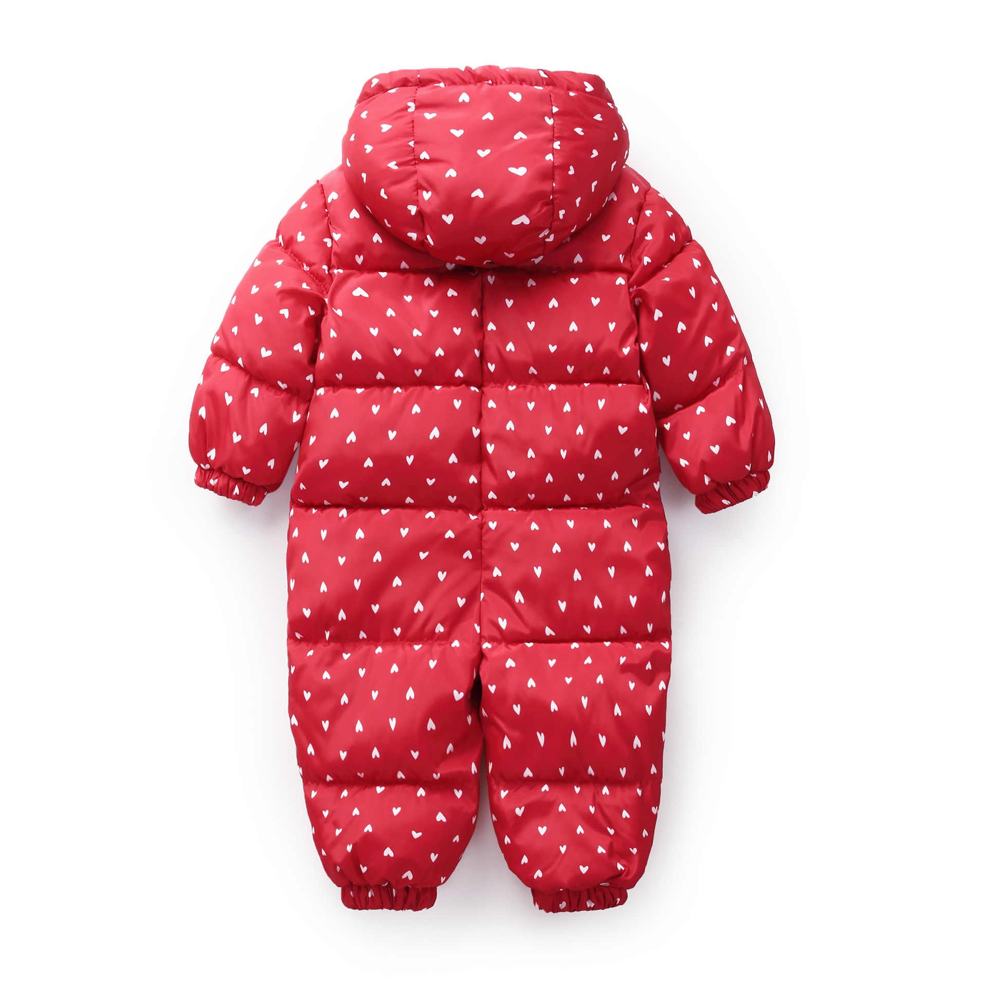 Invierno recién nacido Bebé Ropa mono camuflaje cálido mono de nieve para niño para niñas monos con capucha para niños mono unisex para bebé