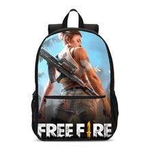 ファッション新女性カジュアル学校のバックパックボーイズ3Dゲーム自由火災プリント生徒のスクールバッグ女の子大ラップトップショルダーバッグ旅行バッグ