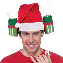 Chrismas Hat Beer Festival Hat Drink Cola Carnival Cap Fishing Funny Creative Xmas outdoor Fishing Creative Xmas Cap Holiday(China)