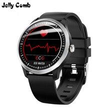 جيلي مشط N58 ساعة ذكية ECG PPG قياس ضغط الدم تخطيط القلب Ecg عرض هولتر الرجال Smartwatch مقاوم للماء