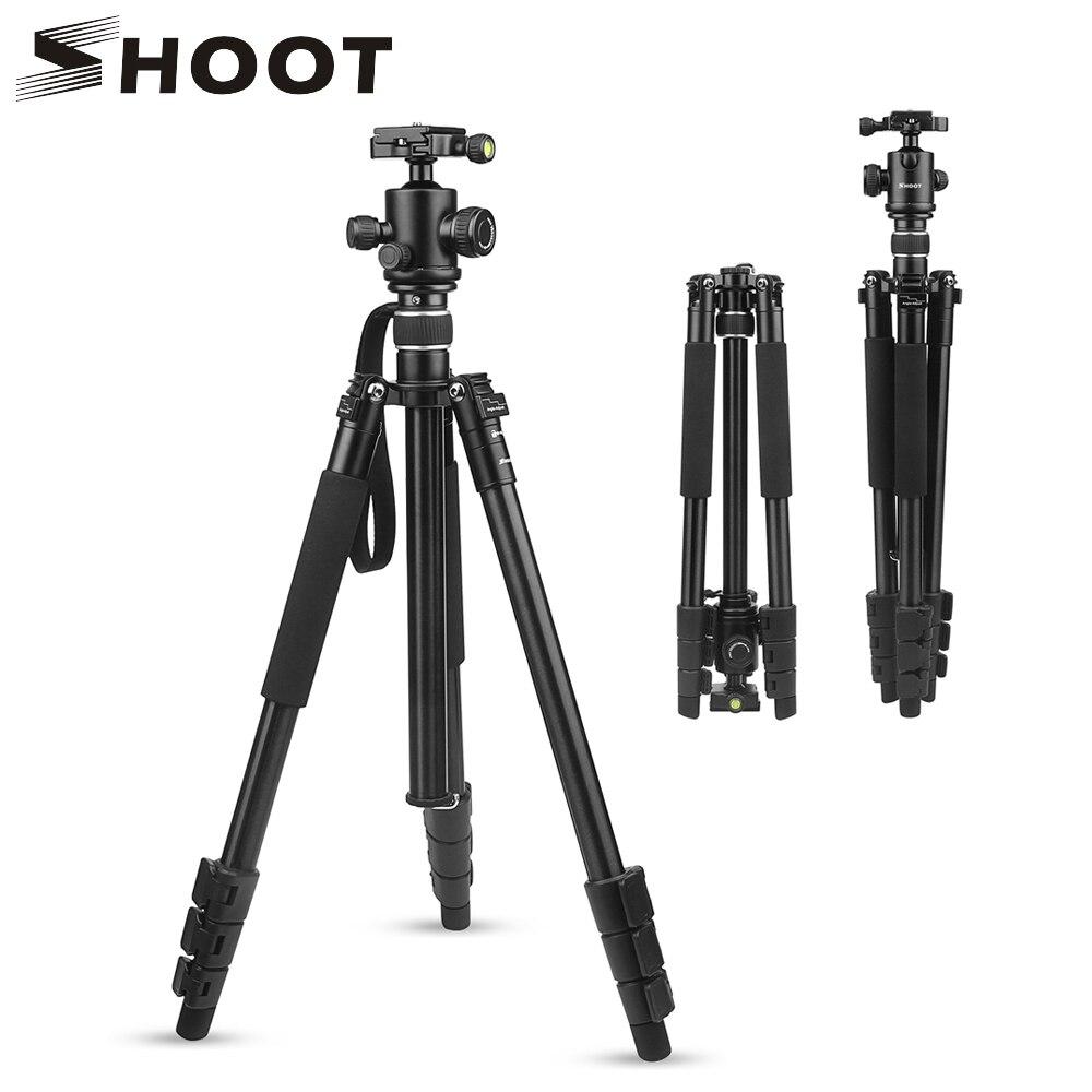 Держатель штатива для камеры SHOOT, подставка для Canon 1300D, Nikon D3400, D5300, sony A6000, X3000, DSLR камера с шаровой головкой, аксессуары
