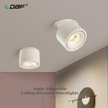 מתקפל 360 תואר סיבוב LED תקרת ספוט אורות 7W 10W 12W 15W LED Downlight צמודי עבור עבור מטבח אמבטיה אור