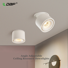 พับ 360 องศาการหมุนLEDเพดานไฟ 7W 10W 12W 15W LEDโคมดาวน์ไลท์พื้นผิวติดตั้งสำหรับห้องครัวห้องน้ำ