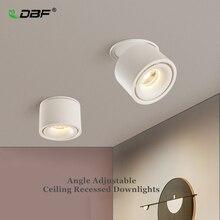 Opvouwbare 360 Graden Rotatie Led Plafond Spot Verlichting 7W 10W 12W 15W Led Downlight Opbouw voor Voor Keuken Badkamer Licht