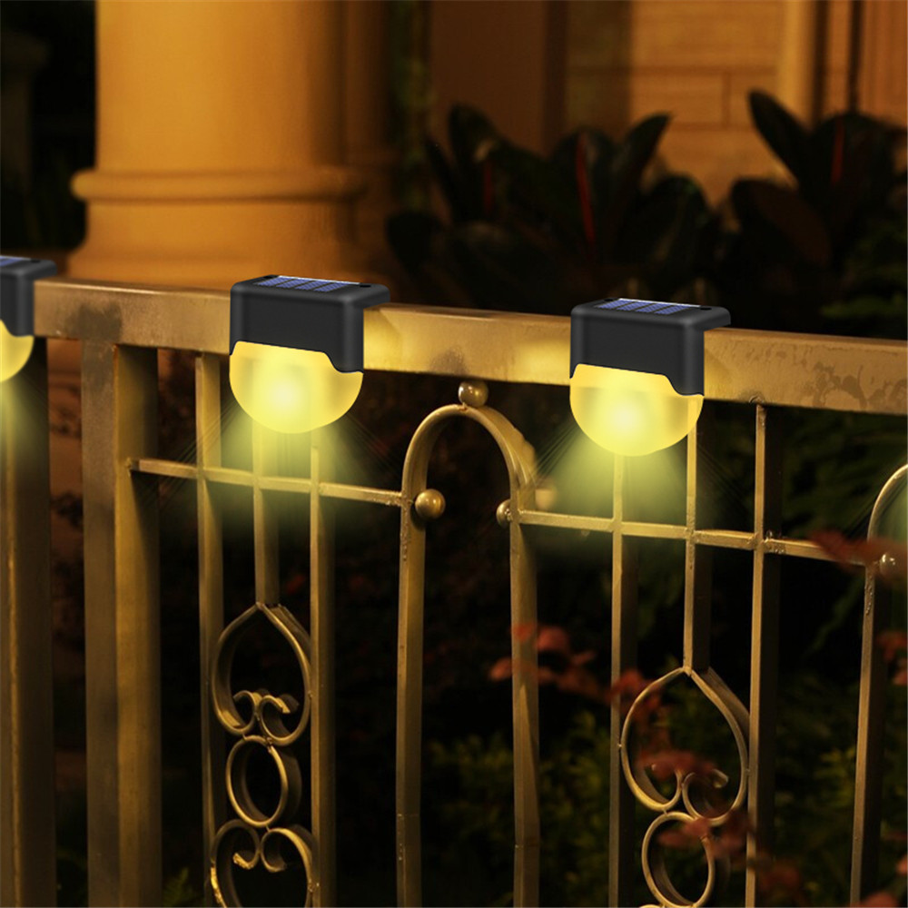 4/6pcs Solar Deck Lamp LED Path Outdoor Garden Wall Light Waterproof Landscape Step Stair Deck Yard Balcony Fence Solar Lights