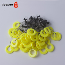 60pcs 10set Float Yellow Rubber Stopper Fishing Floats 5 Size Bobber Oval Bean Space Fishing Line Tackle Equipment Smart Floats 10pcs lot 6 in 1 size sss ss s m l xl xxl rubber oval stopper fishing bobber float connector fishing tackle accessories