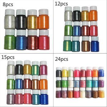 цена на 1 Set Pearlescent Mica Powder Epoxy Resin Dye Pearl Pigment DIY Jewelry Crafts Soap Making Accessory