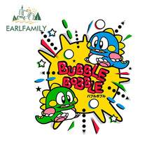 EARLFAMILY 13cm x 10.8cm For Bubble Bobble Fine Car Stickers Car Accessories Decal Occlusion Scratch Decoration For JDM SUV RV