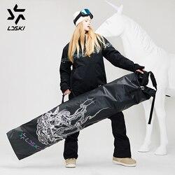 LDSKI складная сумка для катания на колесиках, сумка для сноуборда, прочная водонепроницаемая сумка для зимних видов спорта, сумка для путешес...