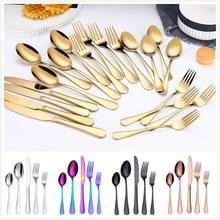 More choices 5pcs/set 4pcs/set stainless steel flatware set food grade silverware cutlery utensils include knife fork spoon