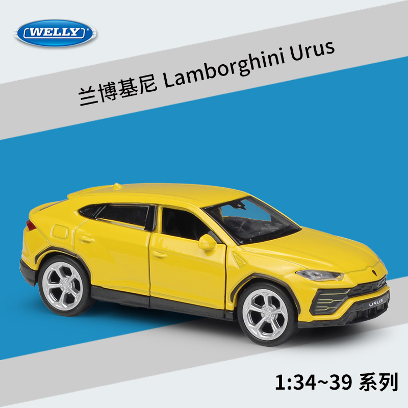 Welly 1:36 Lamborghini Urus Alloy Car Model Pull-back Vehicle Collect Gifts Non-remote Control Type Transport Toy