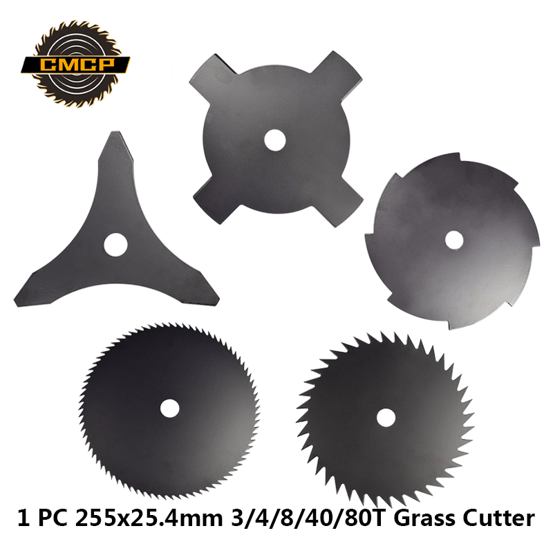 1pc 10Inch Brush Cutter Blade 3/4/8/40/80T Grass Cutter Parts Garden Tool Accessories 255x25.4m Grass Trimmer Blade Cutting Disc