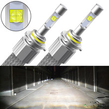 2Pcs Car Headlight Bulbs LED XHP50 Light H1 H3 H4 H7 H8 H9 H11 HIR2 9012 H27 880 881 9007 9005 9006 HB4 HB3 H13 Auto Fog Lamp