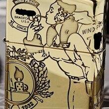 ZHY 2 цвета латунь древнее серебро пять-односторонняя резьба, ветер девушка ZPO Light