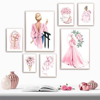Rosa flor-zapatos de tacón para mujer, ropa de cama femenina, a la...