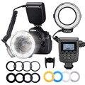 MAMEN макро светодиодный кольцевой светильник-вспышка скоростной светильник Speedlite для Canon Nikon Fujifilm Olympus Pentax DSLR камера кольцо с фотографией свет...