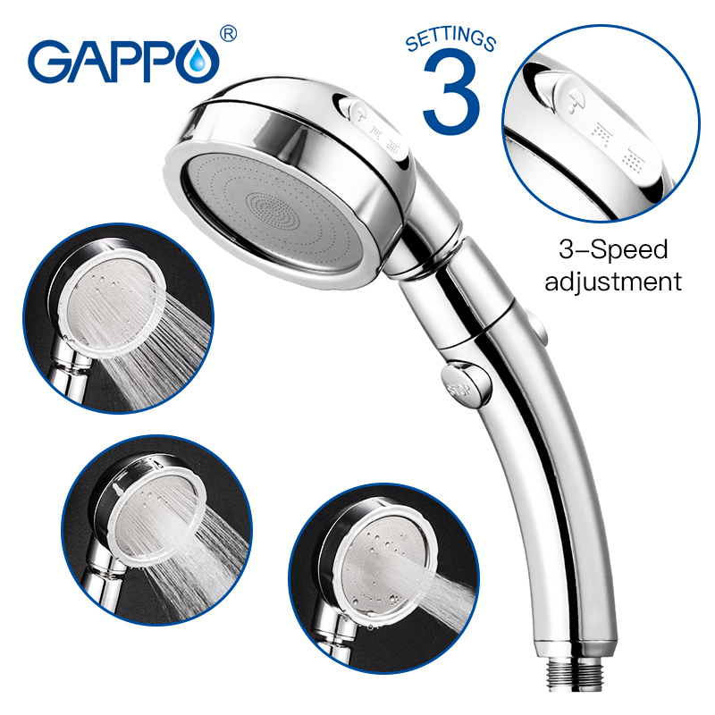 High Pressure Nozzle Shower Head ABS Bathroom Accessories Handheld Water Saving Rainfall Chrome Shower Head