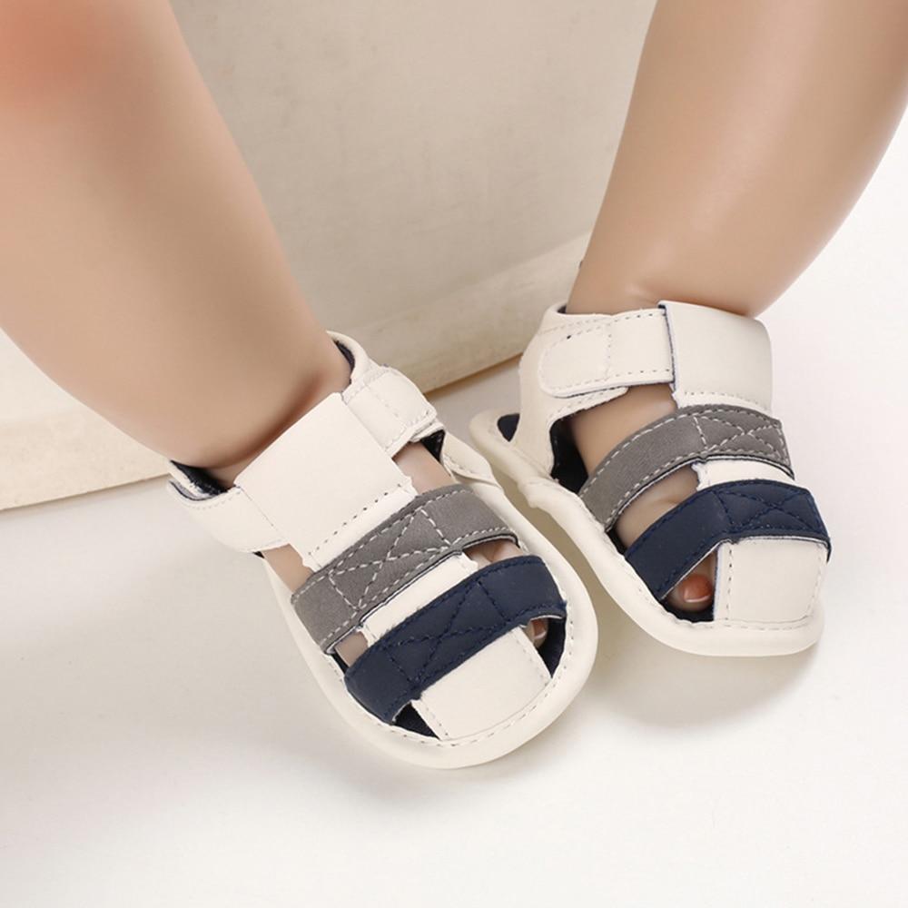 Newborn Toddler Baby Girls Boys Breathable Beach Sandals Kids First Walkers Anti-Slip Soft Crib Pram Shoes D30