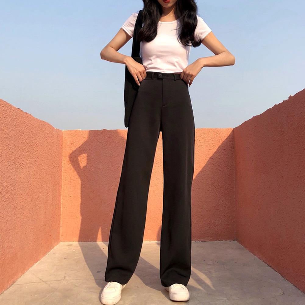 Fashion Girl 2019 Autumn And Winter New Casual Straight Pants Women Loose High Waist Was Thin Wide Leg Pants Casual Pants