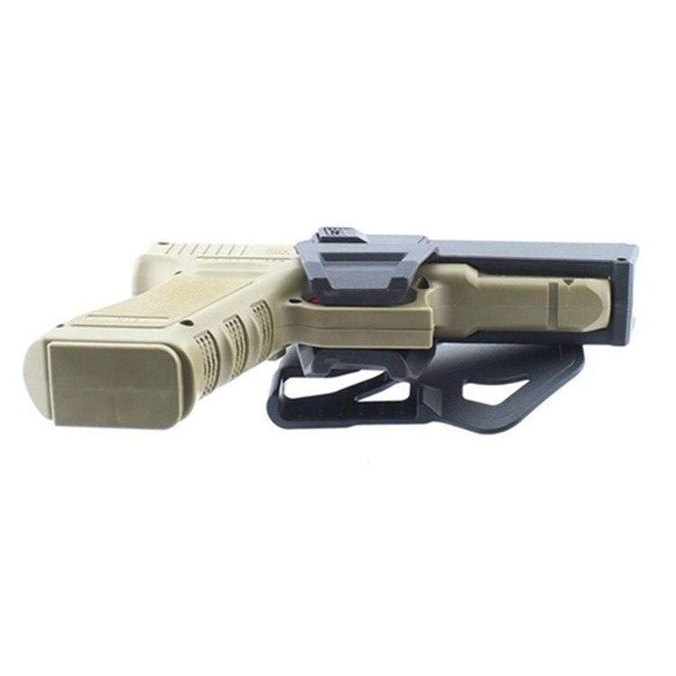 e glock com lanterna ou laser montado