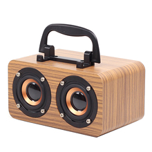 Vintage Bluetooth Speaker Tf-Card Rechargeable-Battery Wooden Wireless 1200mah Supported
