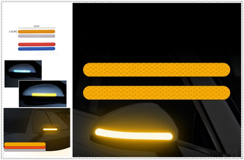 2PSC Car Reflective Rearview Mirror Reversing Night Safety Warning for Volkswagen vw Tuhuan 1.4T Touareg2 New Beetle Passat B6 image