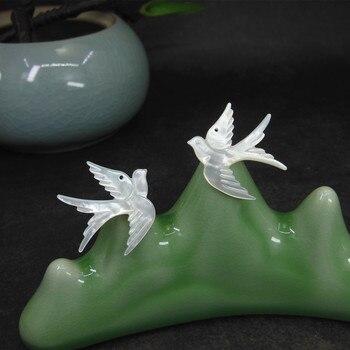 8 Cuentas de concha de paloma Para hacer joyas, Concha, pájaro, Cuenta...