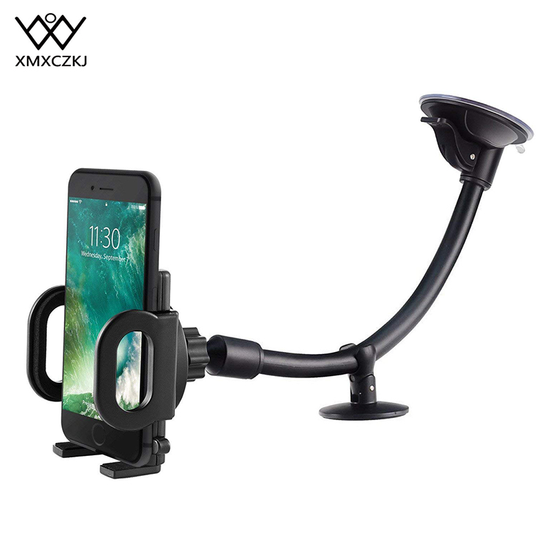 Flexible Adjustable Car Phone Holders Cellphone Mount Stand Long Arm Windshield Dashboard Phone Car Holder For iPhone 11 Pro Max