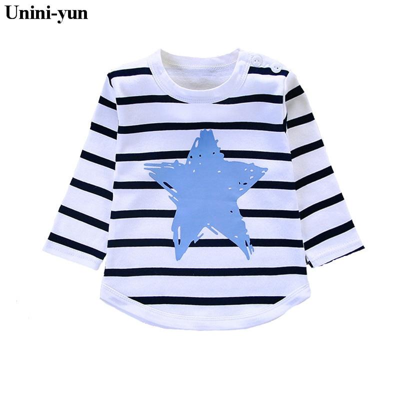 Unini-Yun Girl Clothing T-Shirts Balloon-Print Rainbow Long-Sleeve Baby Kids Cotton Fashion-Brand