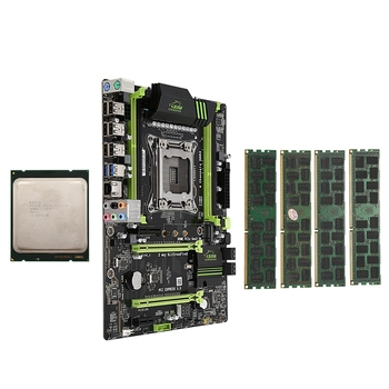 HOT-X79 LGA2011 Motherboard Combo Set with E5-2660 C2 CPU 4X4GB 16GB DDR3 RAM 4-Ch 1333Mhz PCI-E NVME M.2 SSD Slot