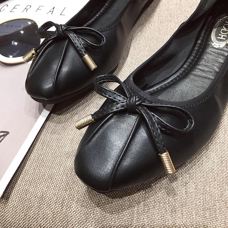 Image 4 - Женская обувь; Sapato Feminino2019; Женские туфли оксфорды; Женская обувь на плоской подошве; Роскошная дизайнерская обувь для женщин; Женские дизайнерские лоферы; Ballerine FemmeОбувь без каблука   -