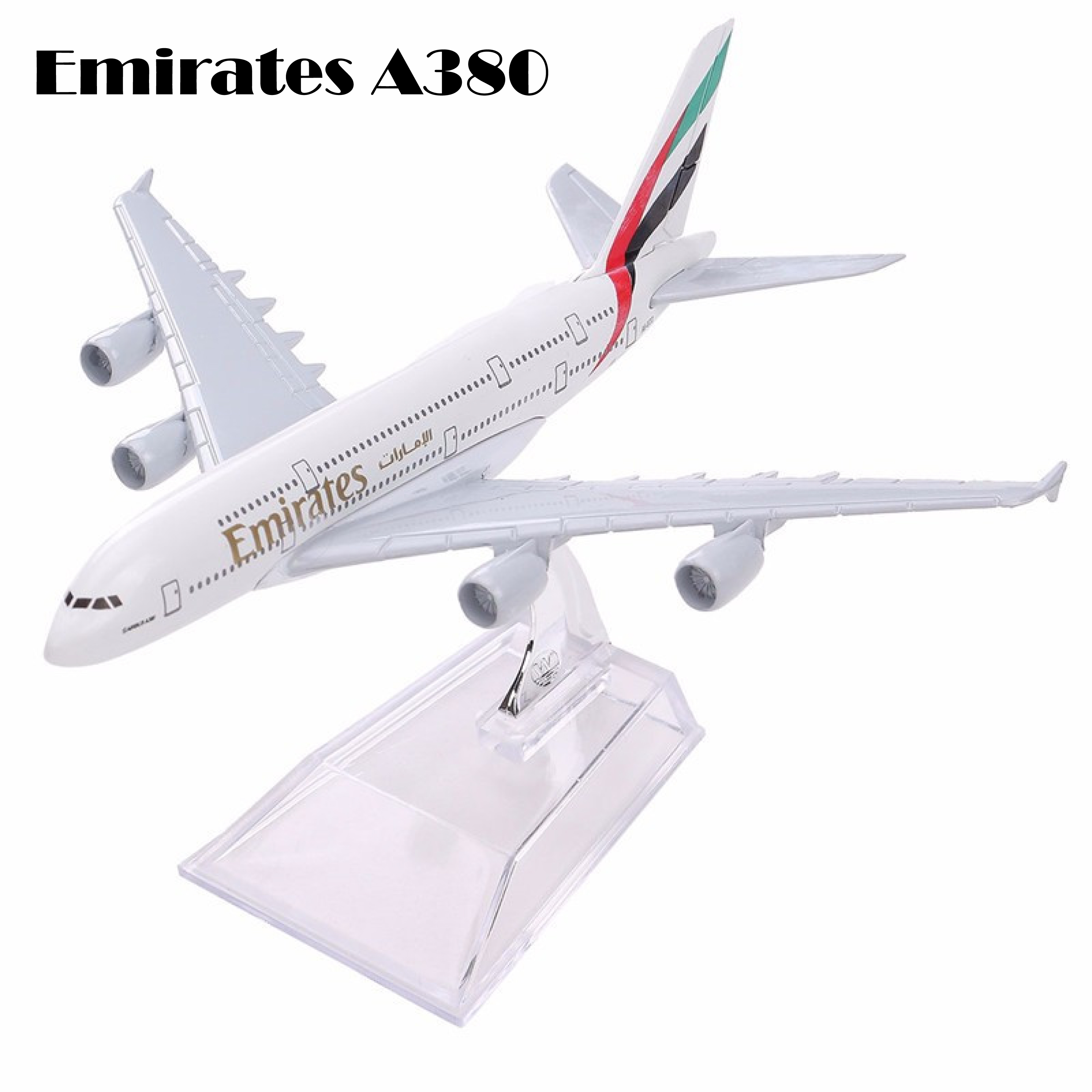 Air Emirates A380 Airlines Airplane Model Airbus 380 Airways 16cm Alloy Metal Plane Model w Stand Aircraft M6-039 Model Plane image