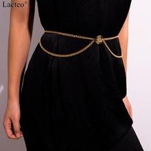 Lacteo Sexy Golden/Silver Multi Layer Retro Harness Waist Belly Chain Women Fashion Beach Charm Waist Chain Female Body Jewelry