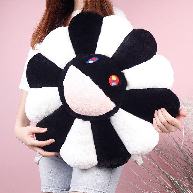 Новая 60 см Такаши Мураками подушка в виде подсолнечника Мягкая Кукла Kawaii Kaikai Kiki разноцветный плюш Подушка для игрушек подарок