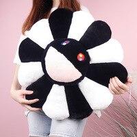 New 60cm Takashi Murakami Sunflower Pillow Soft Flower Stuffed Doll Kawaii Kaikai Kiki Colorful Plush Toy Cushion Gift