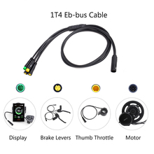 1t4 EB BUS impermeável cabo principal para bafang 8fun mid hub kits de motor E BIKE bbs01b bbs02b bbshd conectar display freio do acelerador