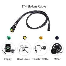 Cable principal impermeable de 1T4 EB BUS para Bafang 8FUN, equipo de Motor de cubo medio E BIKE BBS01B BBS02B BBSHD, acelerador de pantalla de freno de conexión