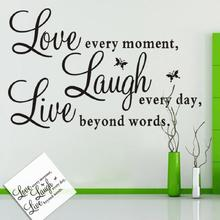 Inspirational Words Love Butterfly Wall Sticker Decal Room Home Wall Poster Decor Self-adhesive Wall Decor Love Design Removable live love waterproof removable wall sticker for home decor