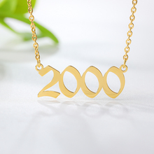Special Date Old English Number 2000 Chokers Necklaces Birthday Gift Personalized Birth Year Necklace Women Men Custom Jewelry