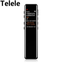 Téléle professionnel HD enregistreur vocal numérique LCD écran coloré éducation du bruit Dictaphone USB enregistreurs Audio rechargeables(China)