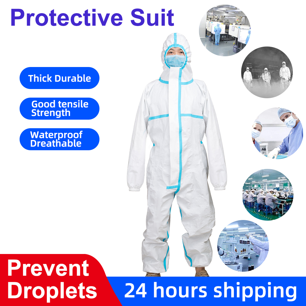 Quality Anti Epidemic Bacterial Prevent Droplets Protective Suit Waterproof Disposable Safety Protection Clothing Hazmat Suit