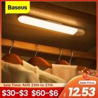 Baseus de bajo luz por movimiento PIR Sensor humano inducción armario lámpara inteligente luz LED para armario para cocina dormitorio
