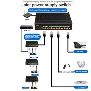 10 портов 1000 Мбит/с POE гигабитный коммутатор VLAN выключатель питания на 250 м ethernet переключатель для IP камеры/беспроводной AP/POE камеры
