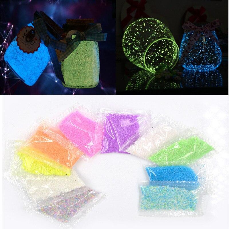 10g Luminous Sand Stones Party Garden Glow In Dark Ornaments DIY Starry Wishing Bottle Fluorescent Aquariums Fish Tank Decor