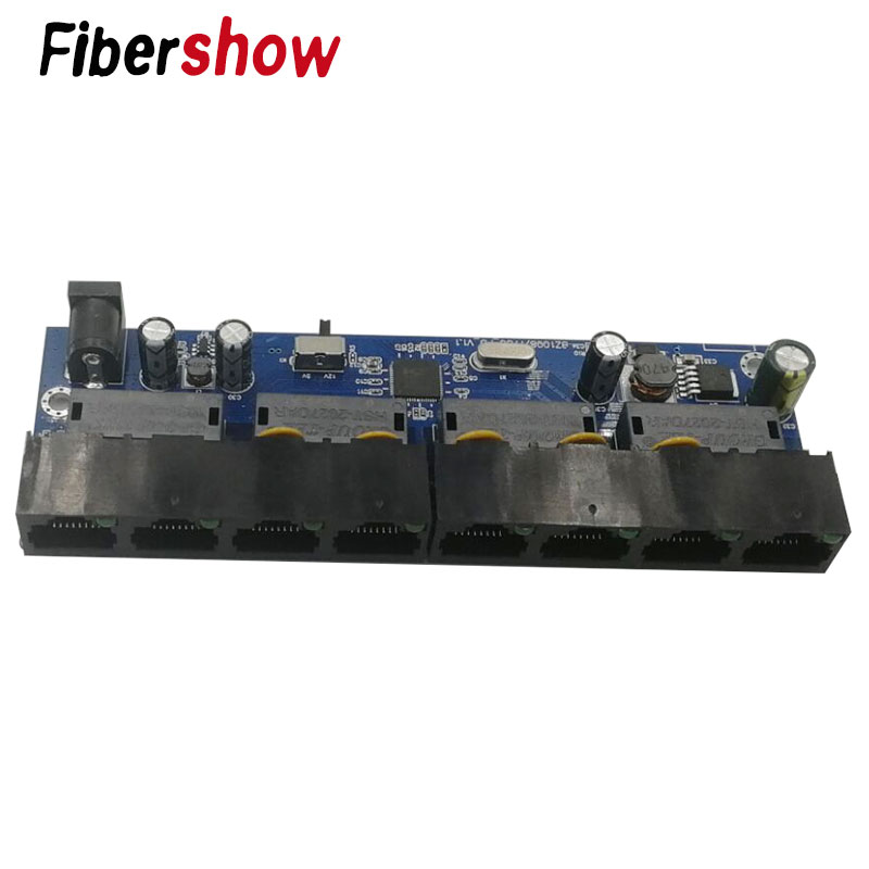 10/100M Reverse POE Switch Output 12V 5V Supply For Epon And Gpon 8 Port Reverse Power Supply RPOE POE Switch Fast Ethernet Pcba