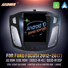 Áudio do carro para o monitor estereofônico dos multimédios dos gps do estilo de tesla 2012-2017 reprodutor de navi de dvd do carro de aisinimi android 10 para ford focus