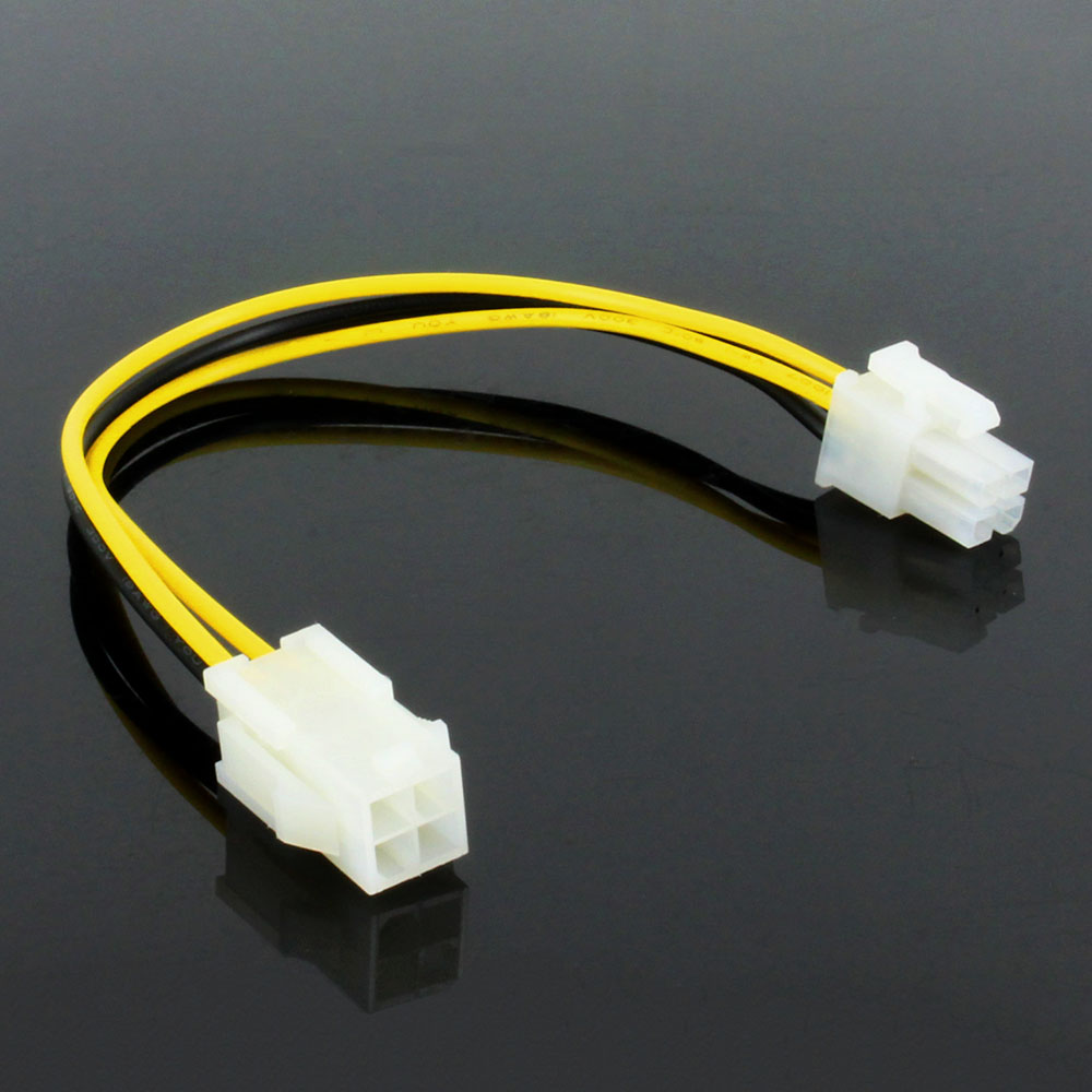 OULLX ATX 4 Pin Male To 4Pin Female PC CPU P4 Motherboard Power Extension Cable Supply Extension Cable Cord Connector Adapter